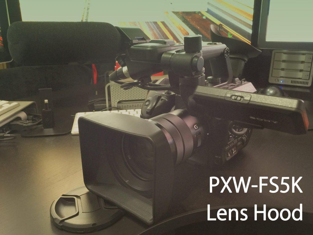 ビデオカメラマンには持ってこいの角形レンズフード (SONY PXW-FS5K)